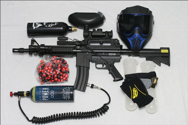 paintball gun full packages, kits and sets